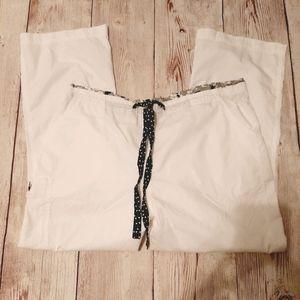 2XL MARY ENGELBRIET WHITE SCRUB PANTS